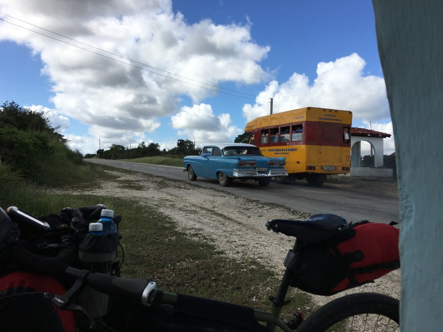 50s car and taxibus Cuba