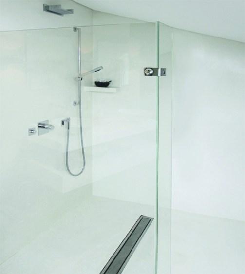 Fugenlose Dusche in wasserfestem Putz