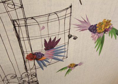 Paradisvögel Wall&Deco