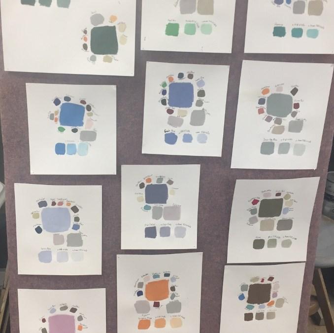 """Farbkonzepte erstellen beim Workshop """"Interior Design"""""""