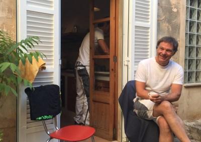 unser Barista Dirk und Sasa muss spülen :-)