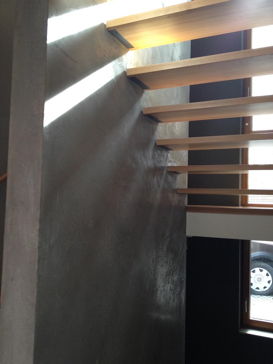 Mineralputz im Treppenhaus