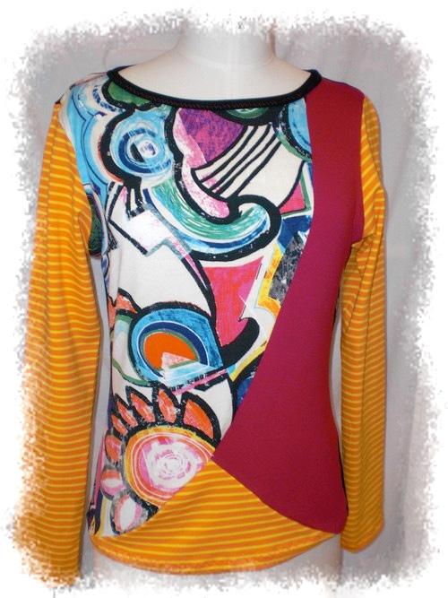 Damenshirt, Jersey, Schnittmuster, Fotoanleitung farbenmix