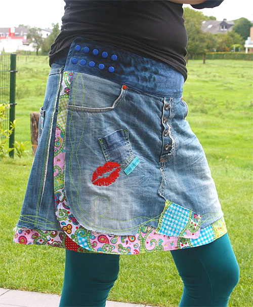 Schnittmuster Flowerpower Jeans Wickelrock
