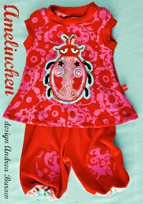 Schnittmuster Baby Kleid Tunika Pumphose, farbenmix