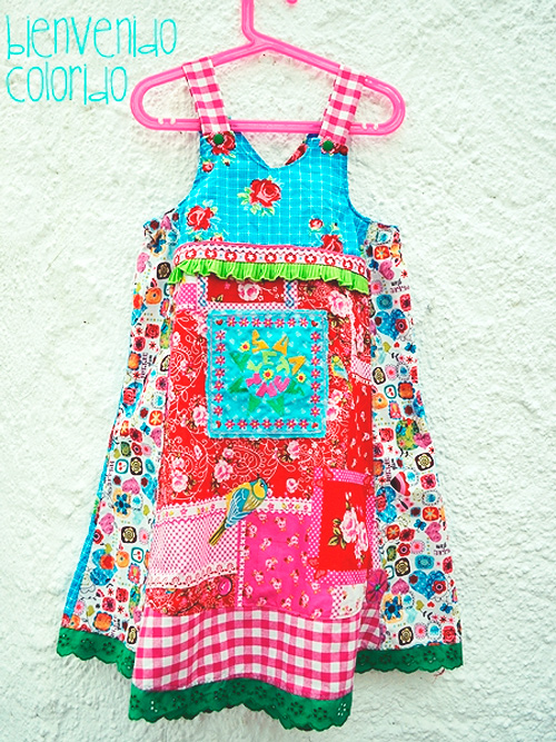 VIDA Kleid Schnittmuster Mädchen farbenmix