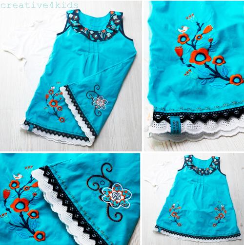ODA Kleid Schnittmuster Mädchen farbenmix