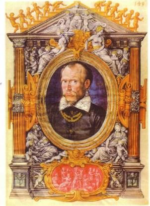 Cipriano de Rore ritratto da Hans Mielich (ca. 1558/1559). Questo artista, coetaneo di Cipriano, illustrò due interi volumi di mottetti di De Rore per la biblioteca di Alberto V di Baviera.