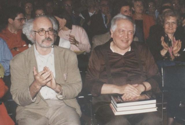Scattolin e Vacchi in una delle tante rassegne Aerco organizzate a Bologna nella chiesa di San Giorgio in Poggiale durante la presidenza Scattolin.