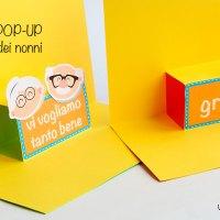 Biglietto pop-up facile per la festa dei nonni : grafica da stampare.