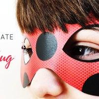 Maschera e yoyo di LadyBug fai da te.