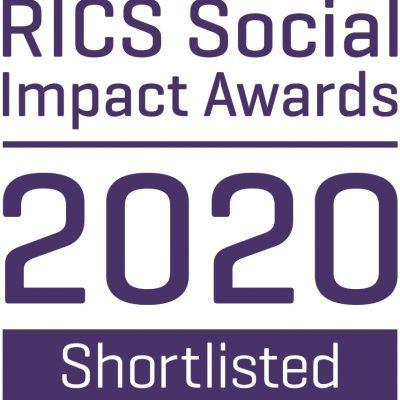 RICS social impact awards 2020 badge third party shortlisted 269