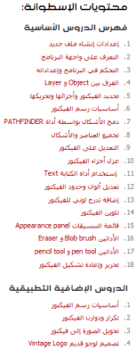 إسطوانة تعليم أدوبى اليستريتور 2013 illustrator cs6 للمبتدئين، تشمل 18 درس أساسية إضافة للدروس التطبيقية