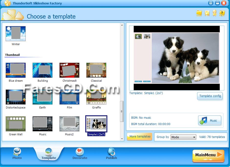 برنامج عمل سلايد شو وألبومات من الصور ThunderSoft Slideshow Factory 3.5.4.0 + Template pack (4)