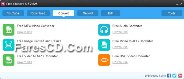تجميعة برامج الميديا الشاملة  Free Studio 6.5.2.525 (5)