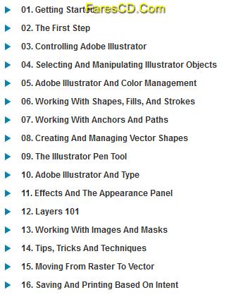 كورس تعليم أدوبى اليستريتور InfiniteSkills - Learning Adobe Illustrator CC