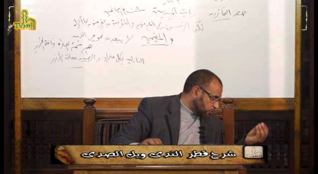 شرح قطر الندى وبل الصدى د محمد حسن عثمان فيديو (2)