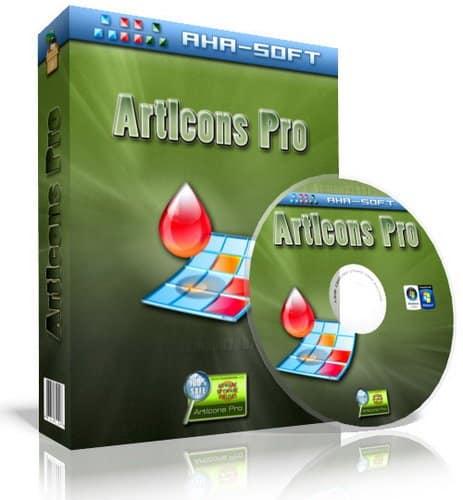 برنامج إنشاء وتصميم الأيقونات | Aha-Soft ArtIcons Pro
