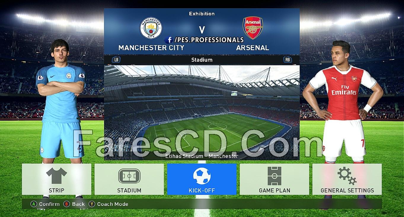 تحميل باتش لعبة بيس 2017 | PES Professionals Patch