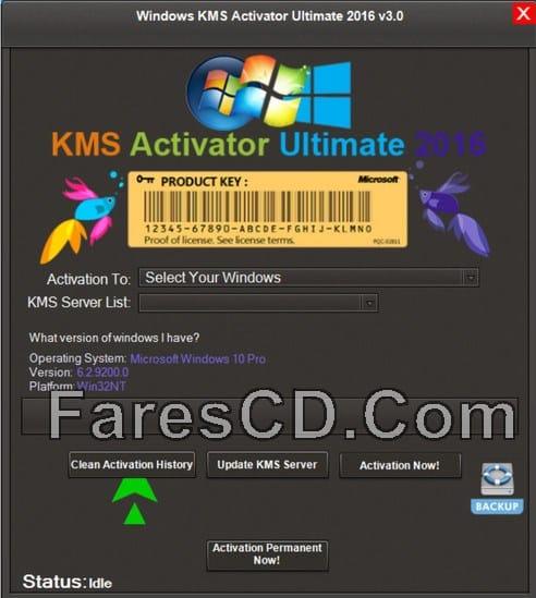 إصدار جديد من أداة تفعيل الويندوز والأوفيس | Windows KMS Activator Ultimate 2016 3.0