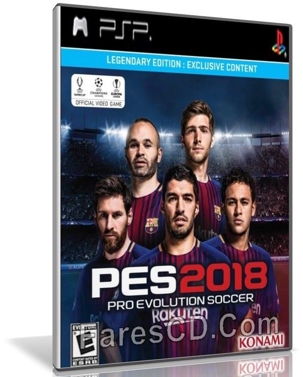 لعبة بيس 2018 | PES 18 PSP V4 C19 Mood | محولة للكومبيوتر