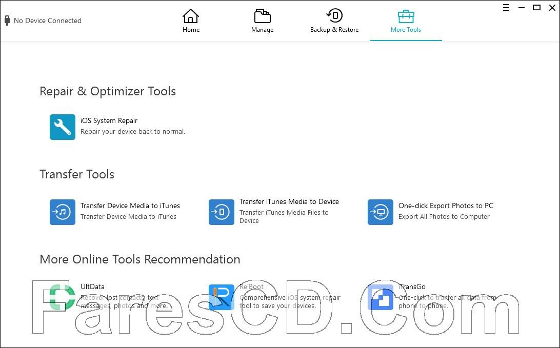 برنامج إدارة بيانات الايفون   Tenorshare iCareFone 5.4.2.2