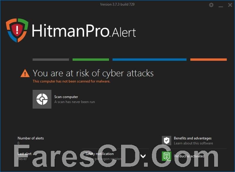 برنامج الحماية من مخاطر الإنترنت | HitmanPro Alert