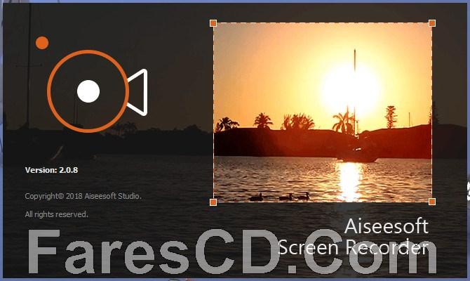 برنامج تسجيل شاشة الكومبيوتر بالفيديو   Aiseesoft Screen Recorder