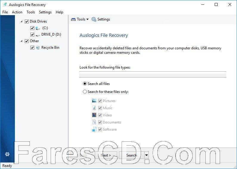 برنامج استرجاع الملفات المحذوفة | Auslogics File Recovery Professional 9.0.0.1