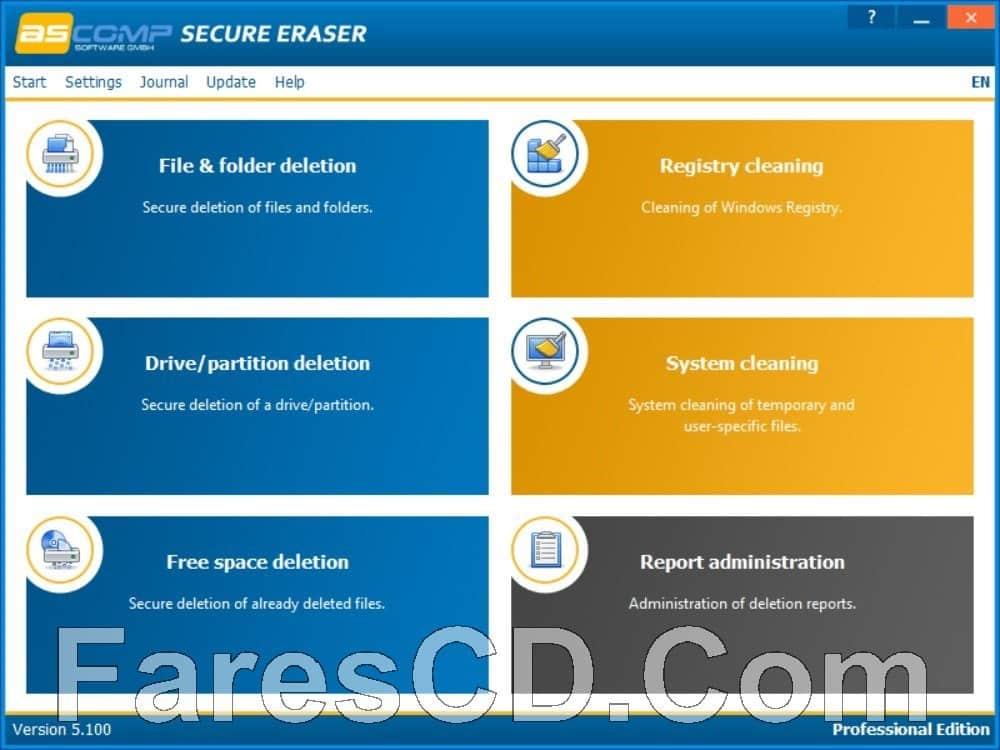 برنامج حذف الملفات دون إمكانية استرجاعها | Secure Eraser Professional