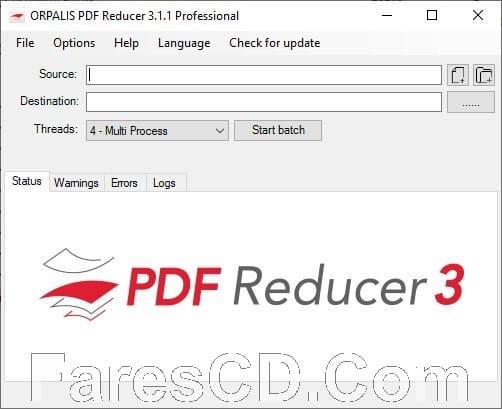 برنامج ضغط ملفات بى دى إف   ORPALIS PDF Reducer Professional