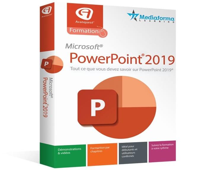 برنامج التدريب على برنامج بوربوينت Avanquest Formation PowerPoint 2019 |