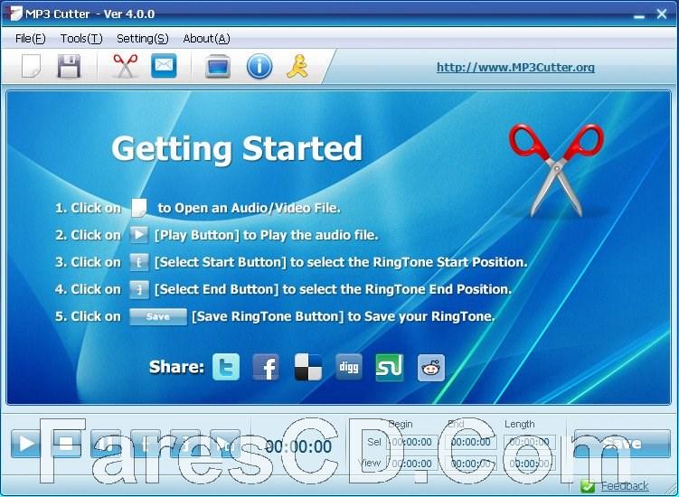 برنامج تقطيع الملفات الصوتية | MP3 Cutter