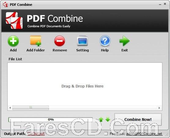برنامج دمج صفحات بى دى إف | PDF Combine