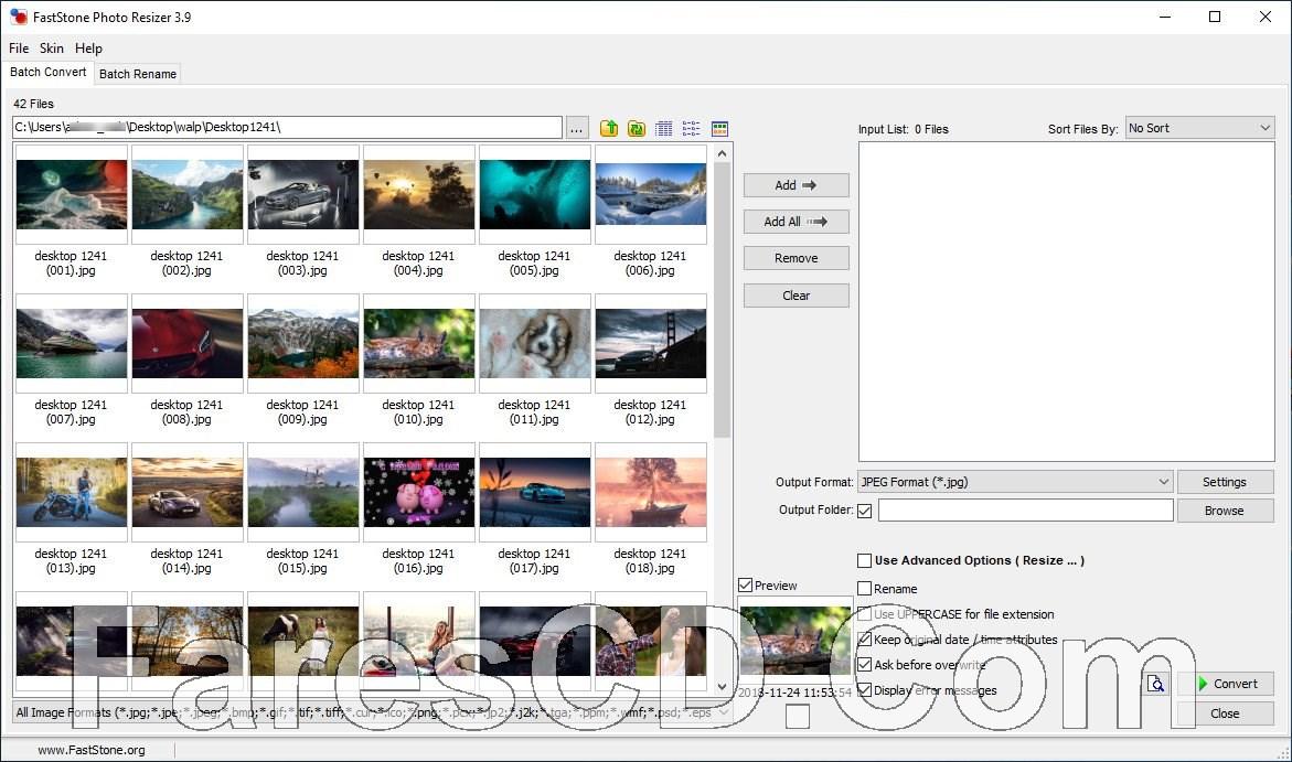 برنامج ضغط وتحويل الصور | FastStone Photo Resizer