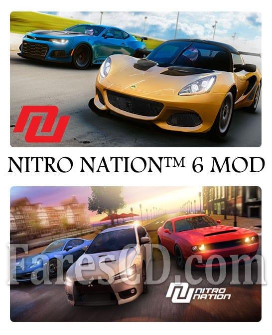 لعبة السيارات والسرعة للاندرويد | NITRO NATION 6 MOD v6.4.1