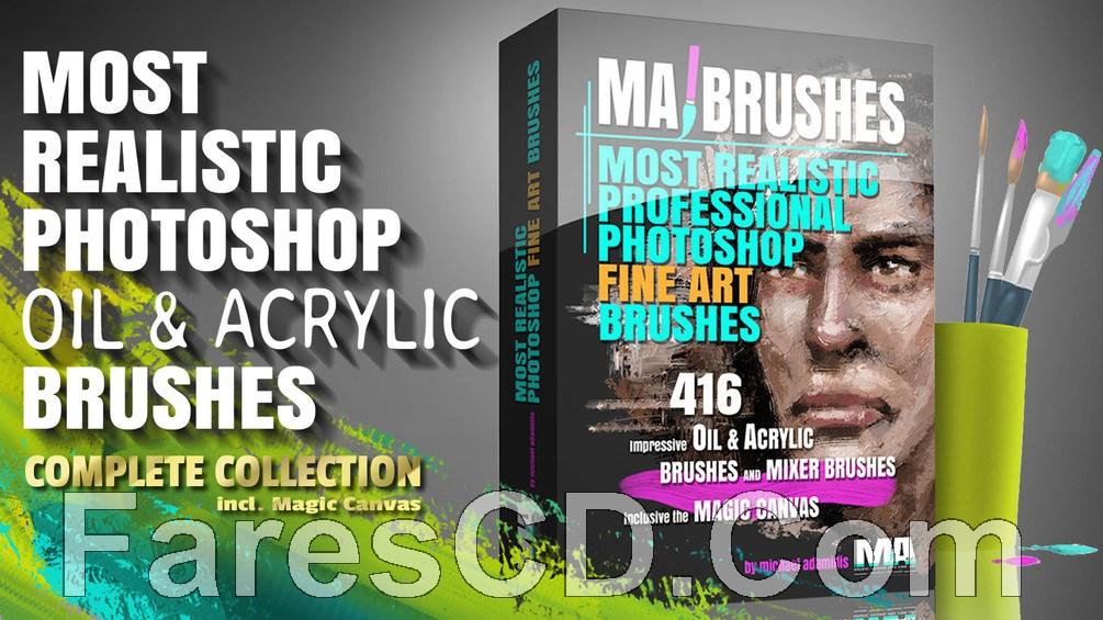 تجميعة فرش الفوتوشوب | MA Brushes Realistic PHOTOSHOP Oil & Acrylic