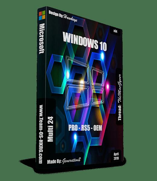 ويندوز 10 برو RS5 بتحديثات ابريل 2019 | بـ 3 لغات x64