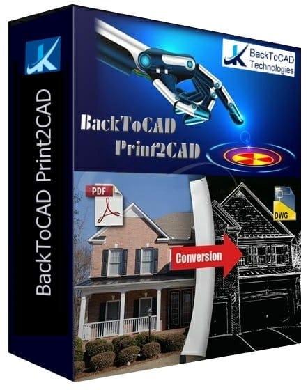 برنامج تحويل ملفات الاوتوكاد   BackToCAD Print2CAD 2020
