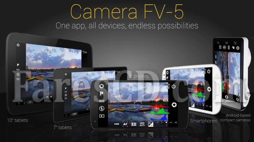 تطبيق الكاميرا الإحترافى للهواتف | Camera FV-5 | أندرويد