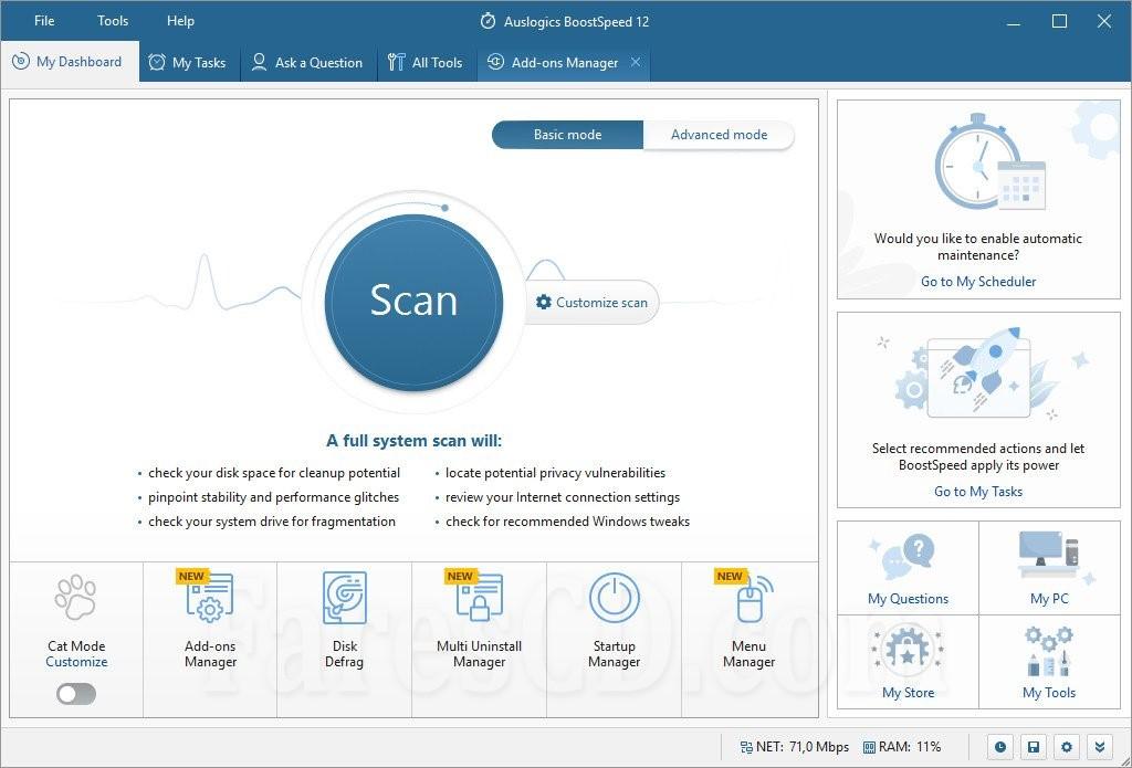 برنامج صيانة وتسريع الويندوز   Auslogics BoostSpeed