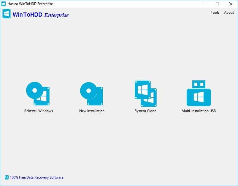 برنامج تثبيت الويندوز من الهارد | WinToHDD