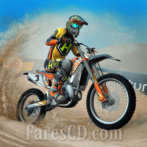 لعبة سباق الدراجات النارية   Mad Skills Motocross 3 MOD   للأندرويد