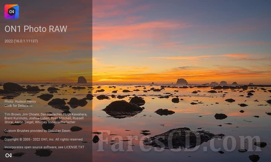 برنامج تحرير الصور 2022 | ON1 Photo RAW 2022
