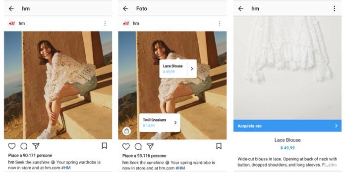 ecommerce su instagram shopping