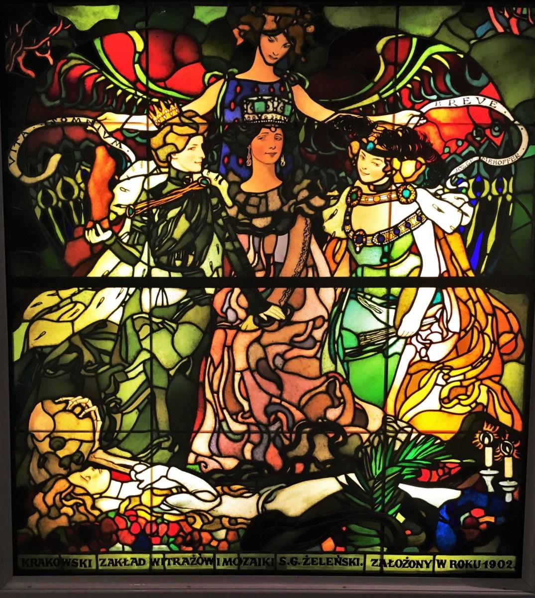 Vita - Somnium Breve - Stain-glass windows by Jozef Mehoffer - Muzeum Narodowe w Krakowie