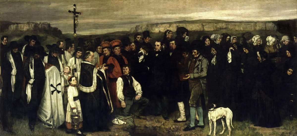 Gustave Courbet: A funeral in Ornans, 1850