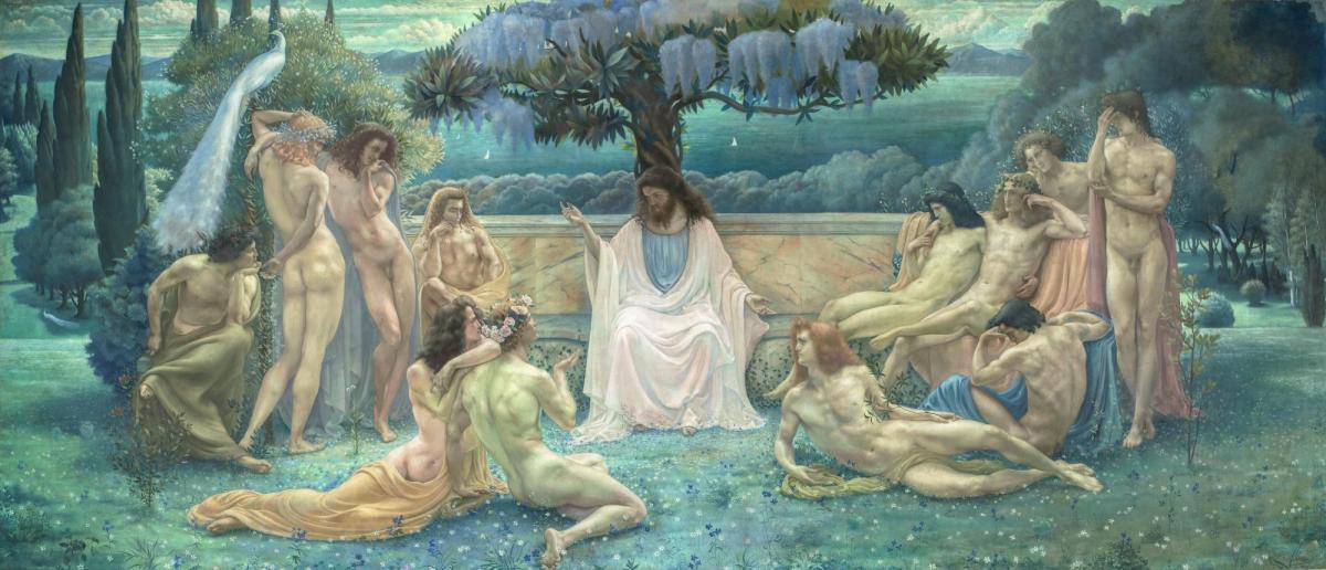 Jean Delville: The School of Plato, 1898