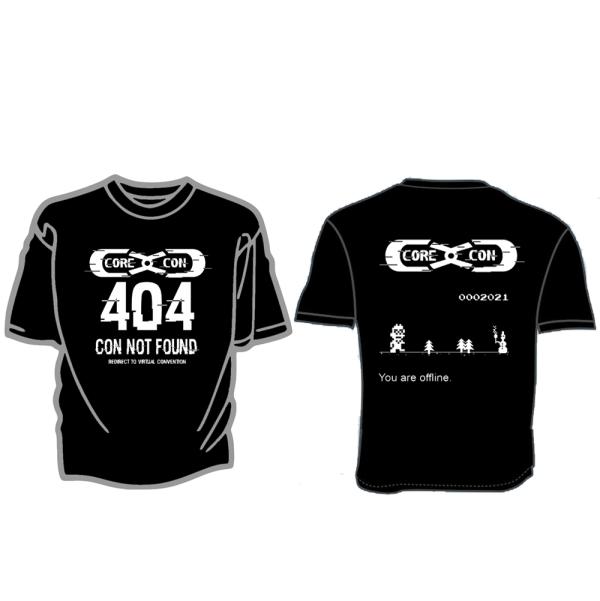 CoreCon 404 Con Not Found t-shirt