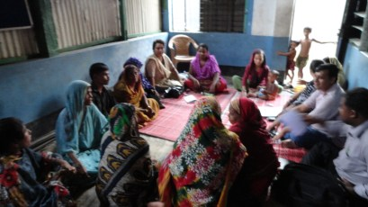 Focus group discussion, Korail slum, Dhaka, Bangladesh